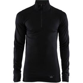 Craft Merino Lightweight Zip Heren, black